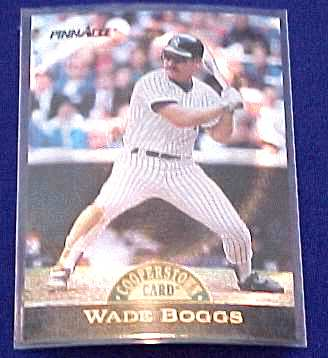 1993 Pinnacle Cooperstown Collection DUFEX #13 WADE BOGGS (Yankees) Baseball cards value