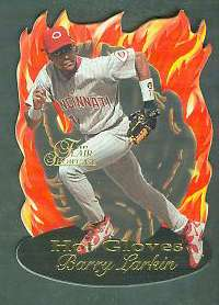 1997 Flair Showcase 'HOT GLOVES' #.8 Barry Larkin (Reds) Baseball cards value