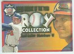 2001 Fleer Focus 'ROY COLLECTION' #24 David Justice (Braves) Baseball cards value