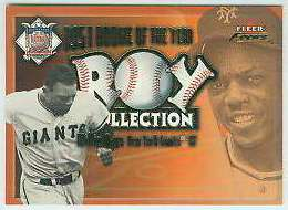 2001 Fleer Focus 'ROY COLLECTION' #11 Willie Mays (Giants) Baseball cards value