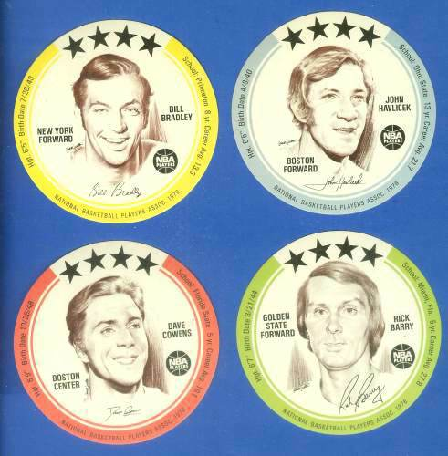1976 Buckmans Discs #.5 Bill Bradley Basketball cards value