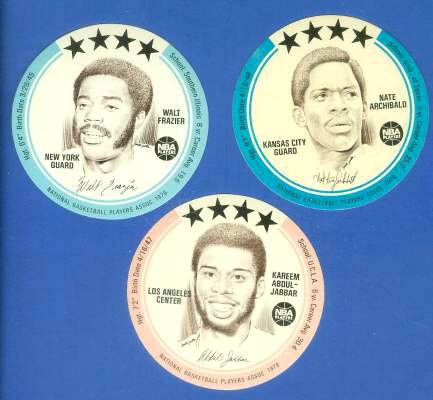 1976 Buckmans Discs #.1 Kareem Abdul-Jabbar Basketball cards value