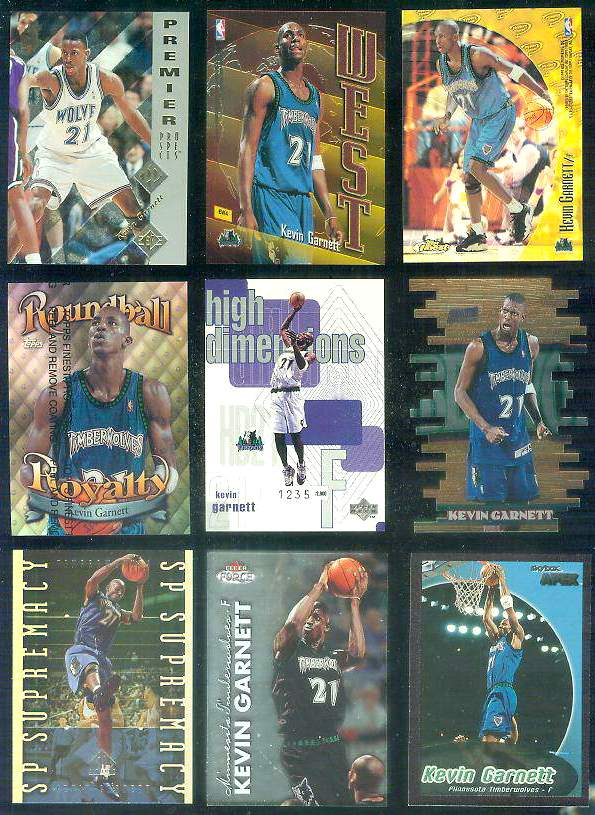 1995-96 SP #159 Kevin Garnett ROOKIE Basketball cards value