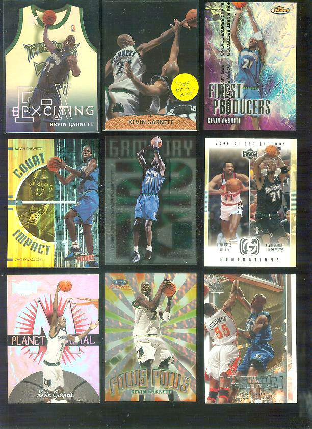 1999-00 E-X 'E-Xciting' #XCT4 Kevin Garnett Basketball cards value