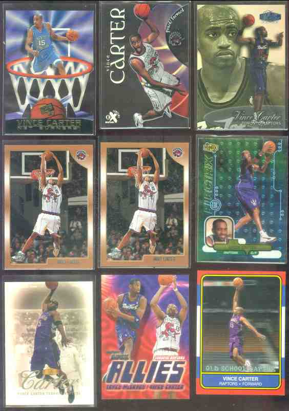 Vince Carter - 1998-99 Flair Showcase #Row3-25 ROOKIE Basketball cards value