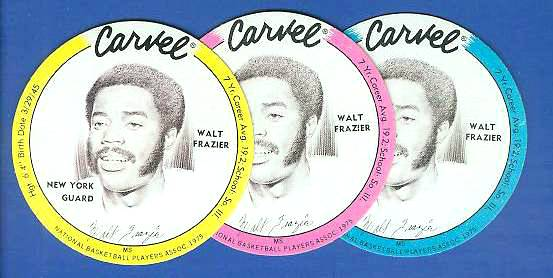 1975 Carvel Discs - Walt Frazier BLUE Basketball cards value