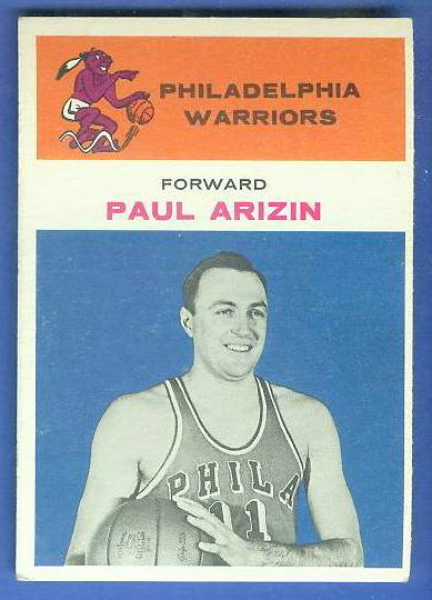 1961-62 Fleer Basketball #.2 Paul Arizin [#c] Basketball cards value