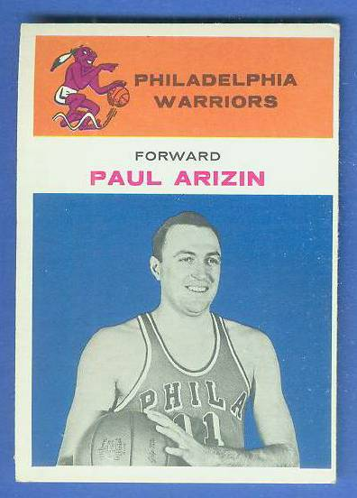 1961-62 Fleer Basketball #.2 Paul Arizin [#d] Basketball cards value