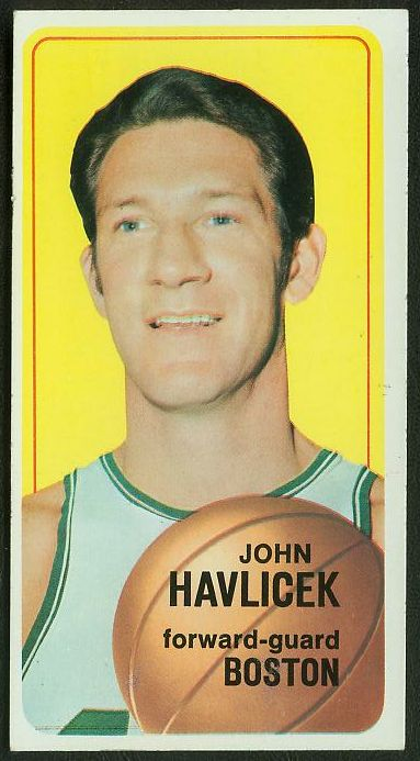 1970-71 Topps Basketball #.10 John Havlicek SHORT PRINT [#b] (Celtics) Basketball cards value