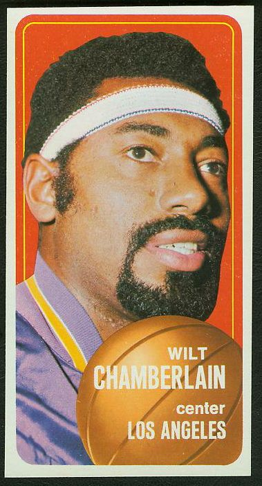 1970-71 Topps Basketball #.50 Wilt Chamberlain [#a] (Lakers) Basketball cards value