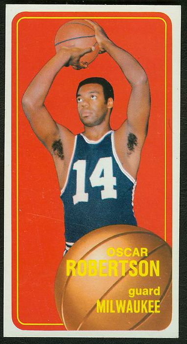 1970-71 Topps Basketball #100 Oscar Robertson [#a] (Bucks) Basketball cards value