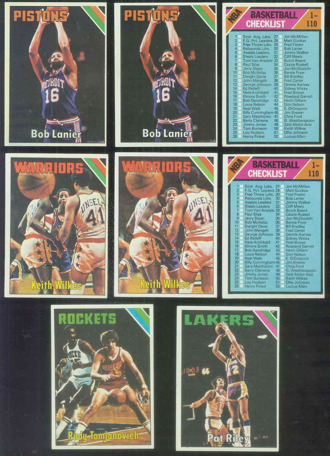 1975-76 Topps Basketball #.70 Rudy Tomjanovich Basketball cards value