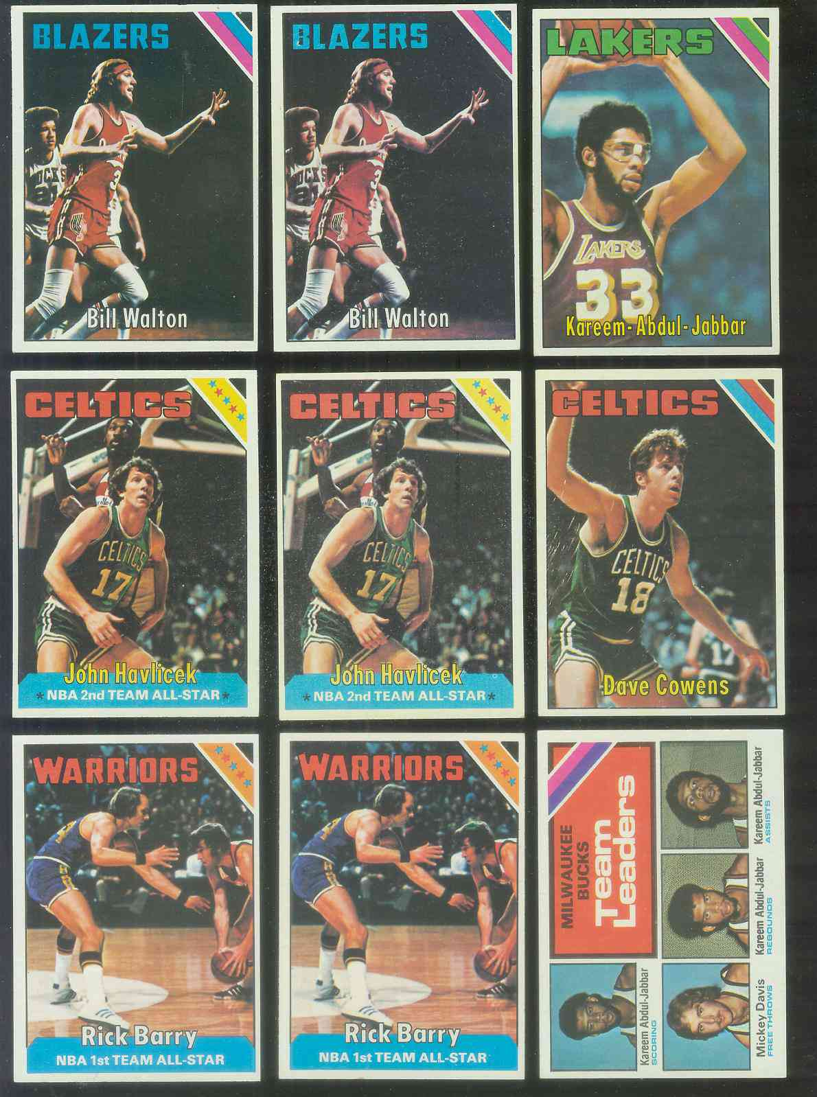 1975-76 Topps Basketball #.90 Kareem Abdul-Jabbar Basketball cards value