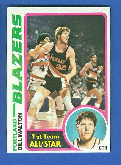 1978-79 Topps Basketball #..1 Bill Walton (Portland Trail Blazers) Basketball cards value