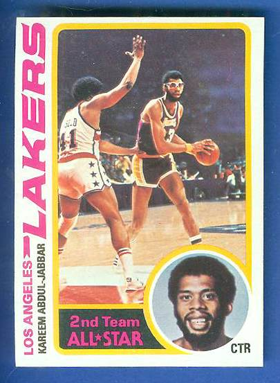 1978-79 Topps Basketball #110 Kareem Abdul-Jabbar (Lakers) Basketball cards value