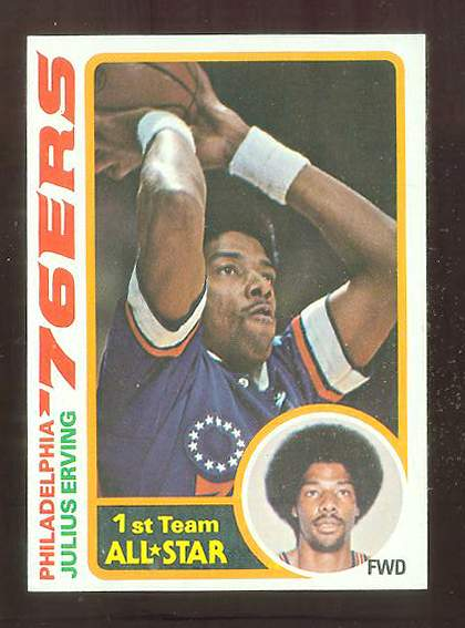 1978-79 Topps Basketball #130 Julius Erving Basketball cards value