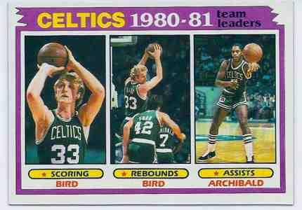 1981-82 Topps Basketball #.45 Larry Bird/Celtics Leaders - Lot of (25) Basketball cards value