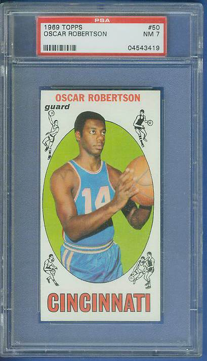 1969-70 Topps Basketball #50 Oscar Robertson Basketball cards value
