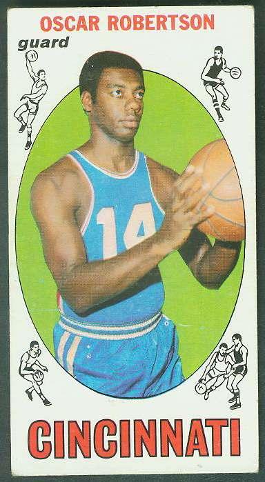 1969-70 Topps Basketball #50 Oscar Robertson Basketball cards value