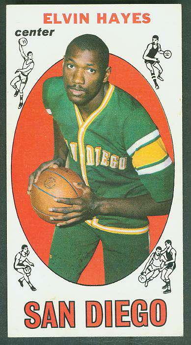 1969-70 Topps Basketball #75 Elvin Hayes ROOKIE Basketball cards value