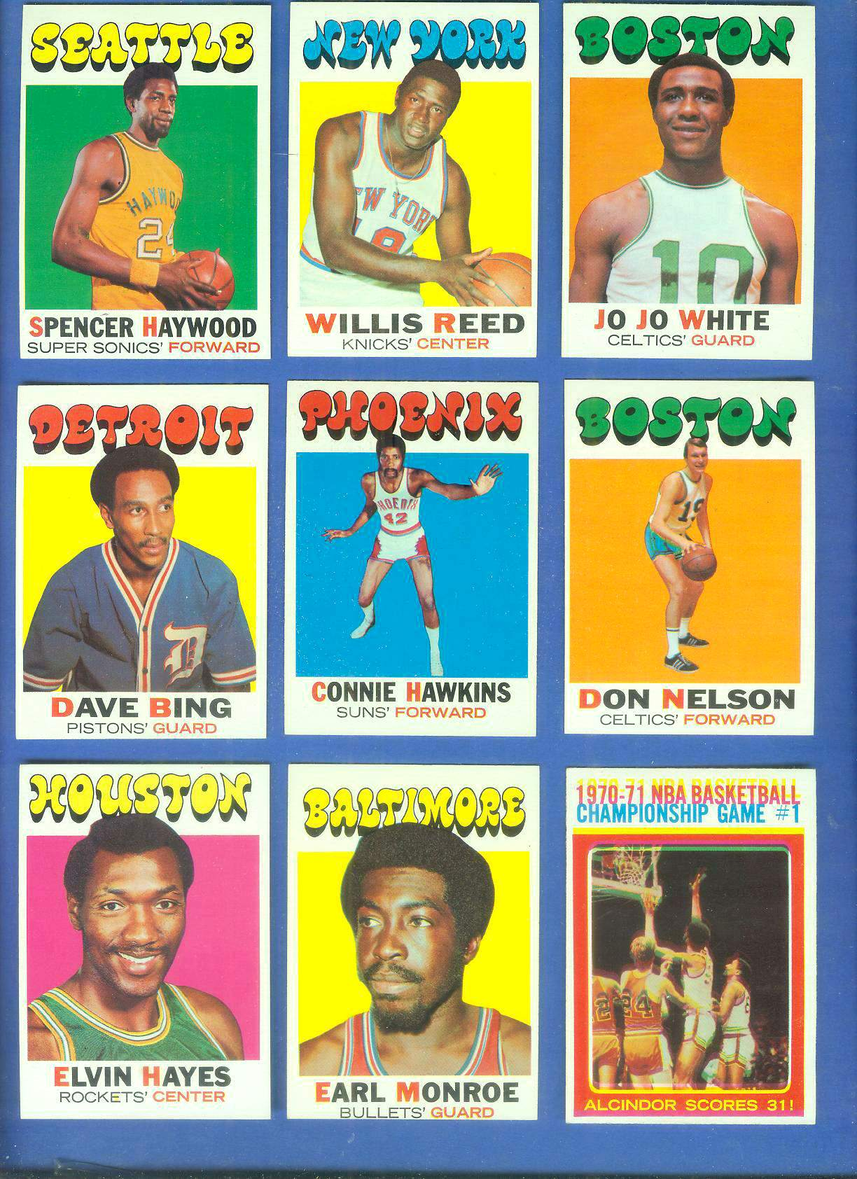1971-72 Topps Basketball #.30 Willis Reed Basketball cards value