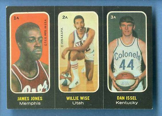 1971-72 Topps Trios Basketball #.1a Dan Issel ROOKIE SHORT PRINT Basketball cards value