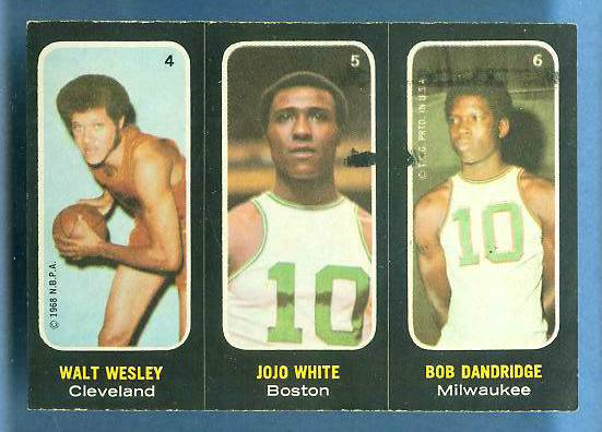 1971-72 Topps Trios Basketball #.4 JoJo White/Bob Dandridge/Walt Wesley Basketball cards value