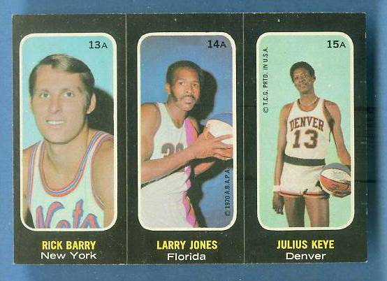 1971-72 Topps Trios Basketball #13 Elwin Hayes/Hal Greer/Johnny Green Basketball cards value