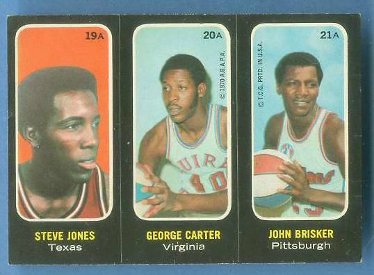 1971-72 Topps Trios Basketball #19a Steve Jones [#a] SHORT PRINT Basketball cards value