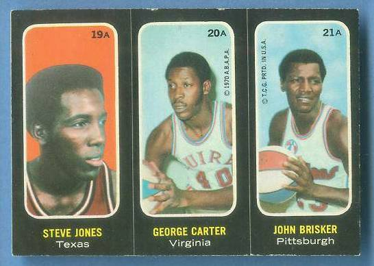 1971-72 Topps Trios Basketball #19a Steve Jones [#b] SHORT PRINT Basketball cards value