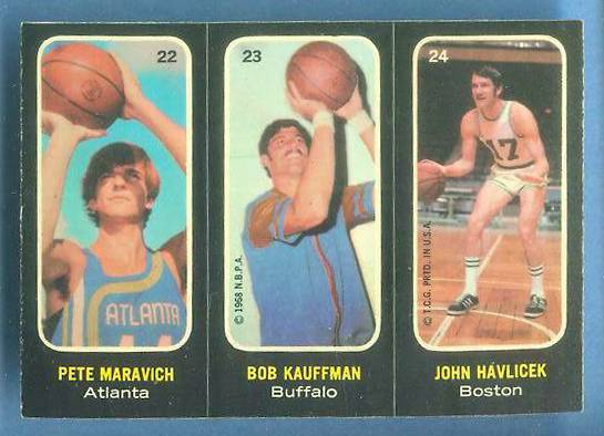 1971-72 Topps Trios Basketball #22 Pete Maravich/John Havlicek [#b] Basketball cards value