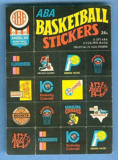 1971-72 Topps Trios Basketball #24a ABA Team Logo Stickers [#b] SHORT PRINT Basketball cards value