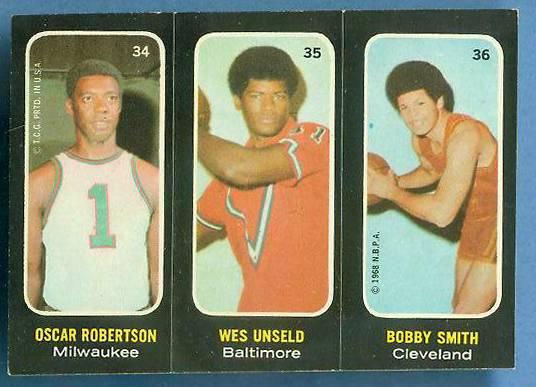 1971-72 Topps Trios Basketball #34 Oscar Robertson SHORT PRINT Basketball cards value