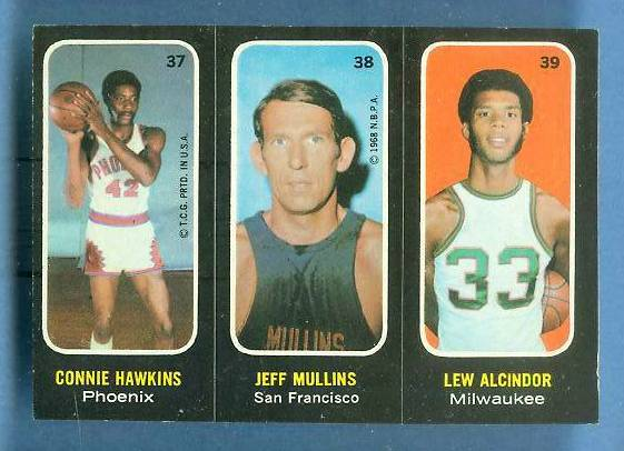 1971-72 Topps Trios Basketball #37 Lew Alcindor [#a] Basketball cards value