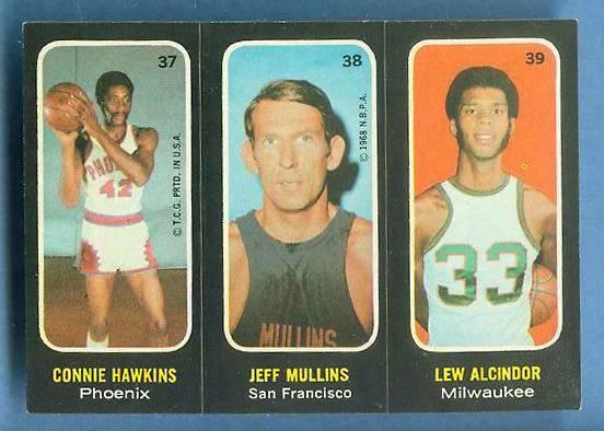 1971-72 Topps Trios Basketball #37 Lew Alcindor [#b] Basketball cards value