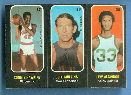 1971-72 Topps Trios Basketball #37 Lew Alcindor [#c] Basketball cards value