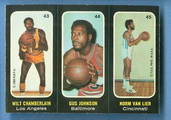 1971-72 Topps Trios Basketball #43 Wilt Chamberlain [#a] SHORT PRINT Basketball cards value