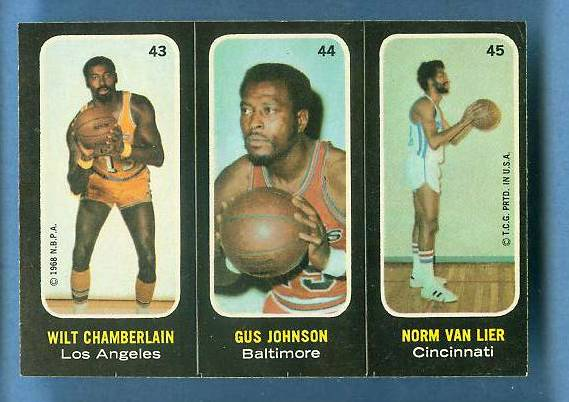 1971-72 Topps Trios Basketball #43 Wilt Chamberlain [#b] SHORT PRINT Basketball cards value