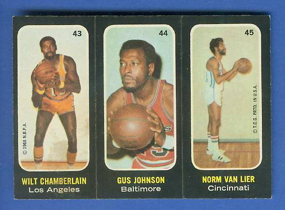 1971-72 Topps Trios Basketball #43 Wilt Chamberlain [#c] SHORT PRINT Basketball cards value