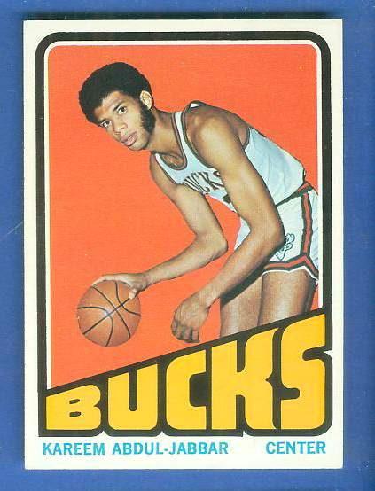 1972-73 Topps Basketball #100 Kareem Abdul-Jabbar Basketball cards value