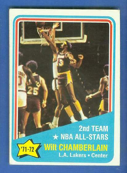 1972-73 Topps Basketball #168 Wilt Chamberlain All-Star Basketball cards value