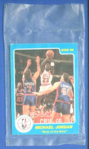 1986 Star 'Best of the New' - COMPLETE FACTORY SEALED SET (4 cards) Basketball cards value