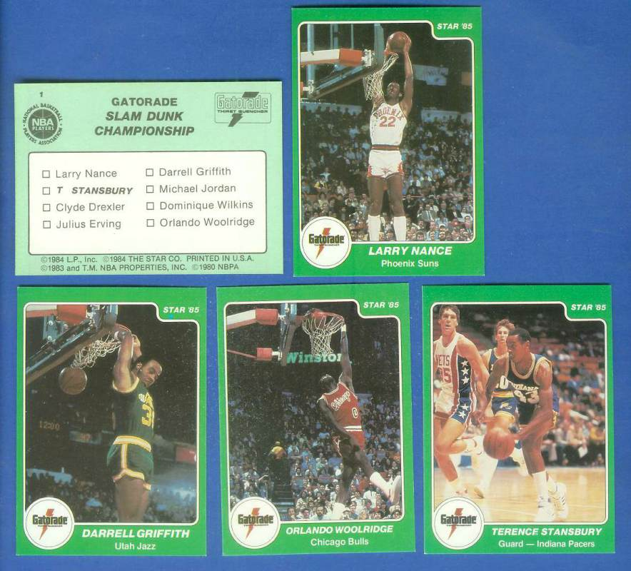 1985 Star 'Gatorade Slam Dunk' #1 Header/Checklist Basketball cards value