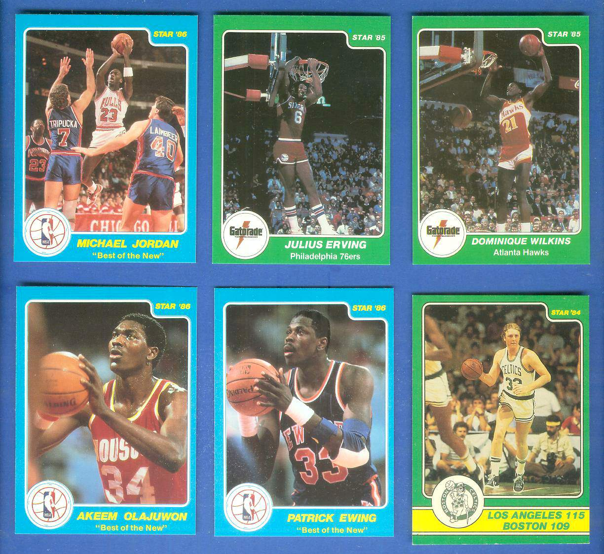 1985 Star 'Gatorade Slam Dunk' #8 Dominique Wilkins Basketball cards value