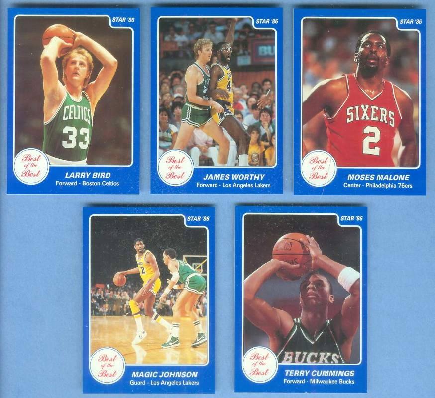 1986 Star 'Best of the Best' #.3 Larry Bird Basketball cards value