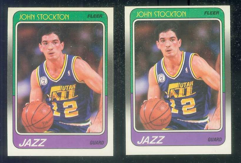 1988-89 Fleer Basketball #115 John Stockton ROOKIE [#b] (Jazz) Basketball cards value