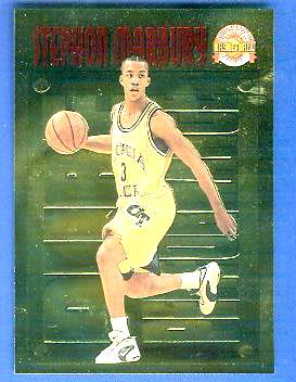 1996 Score Board 'Pure Performance' GOLD #PP.4 Stephon Marbury Basketball cards value