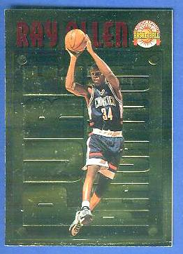1996 Score Board 'Pure Performance' GOLD #PP.5 Ray Allen Basketball cards value