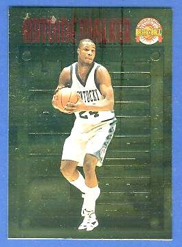 1996 Score Board 'Pure Performance' GOLD #PP.7 Antoine Walker Basketball cards value