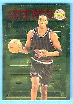 1996 Score Board 'Pure Performance' GOLD #PP27 Scottie Pippen Basketball cards value